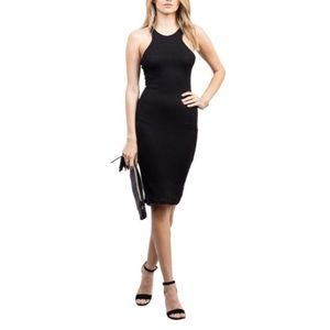 { BCBG } Bodycon Black Racerback Dress Maxazaria